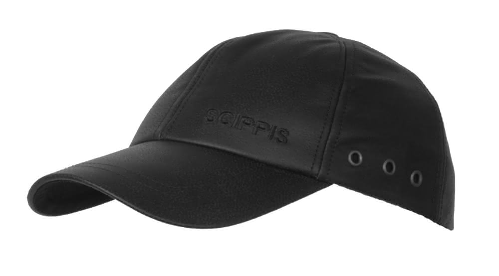 Scippis Leder Cap - schwarz