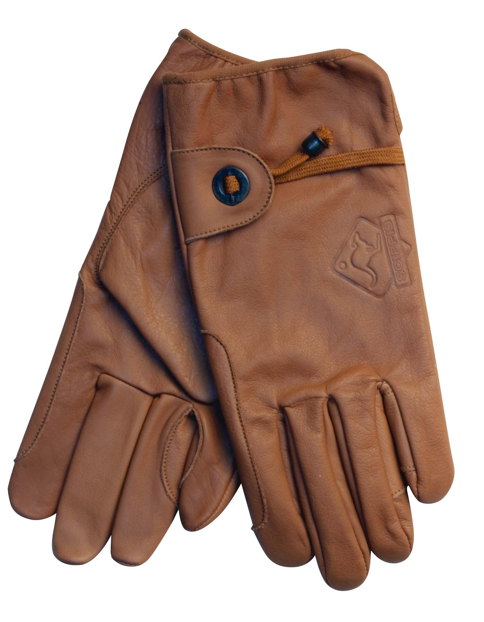 Scippis Leder Handschuhe-Braun-XS