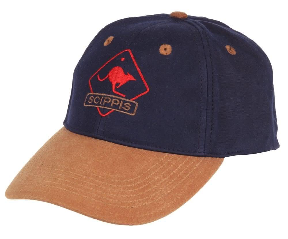 Scippis Oilskin Cap - tan/navy