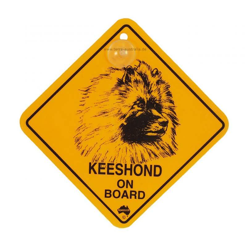 """Roadsign """"Hunde-Swinger - Keeshound"""""""